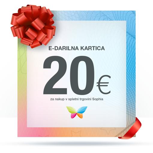 e-Darilna kartica 20 €