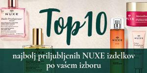 TOP 10 najbolj priljubljenih NUXE izdelkov  po izboru kupcev